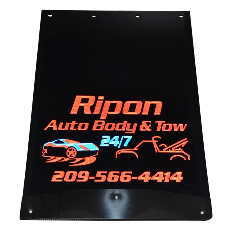 Image of Custom Mud Flaps for Ripon Auto Body