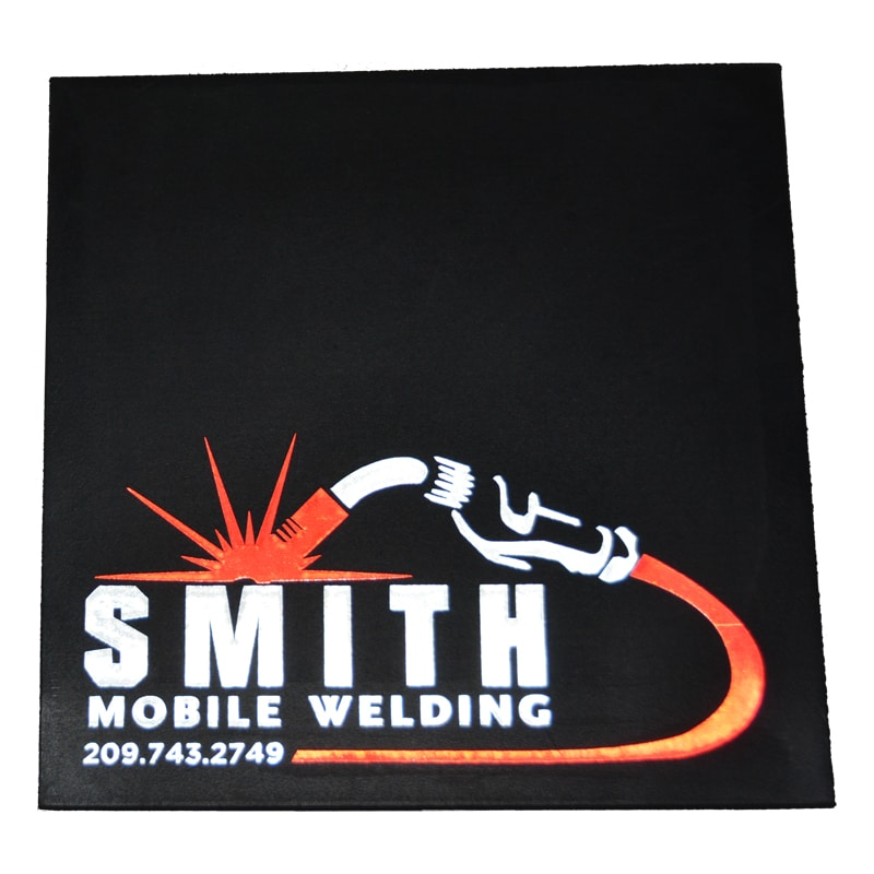 Image of Smith Mobile Welding Reflective Mud Flaps