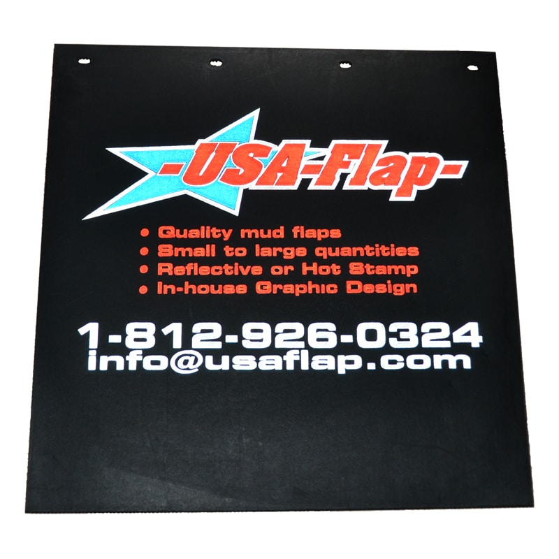 Image of USA Flap Reflective Mud Flaps