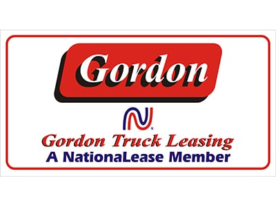 Image of Custom Commercial Vehicle Decal for Gordon Truck Leasing