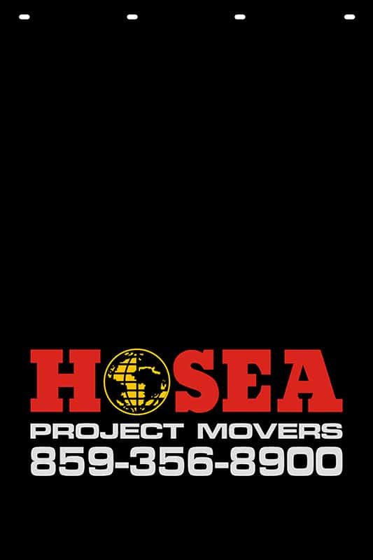 Image of Custom Hot Stamp Mud Flap for Hosea Project Movers