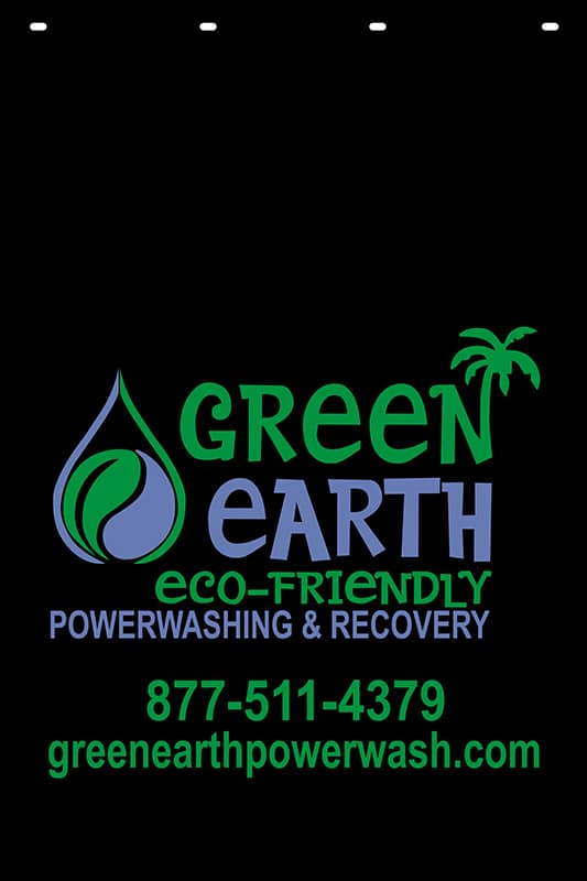 Image of Custom Reflective Mud Flap for Green Earth Power Wash