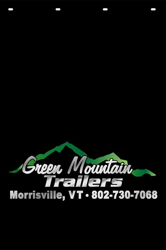 Image of Custom Reflective Mud Flap for Green Mountain Trailers