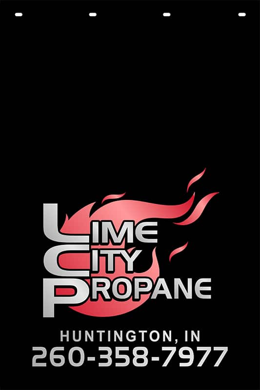 Image of Custom Reflective Mud Flap for Lime City Propane