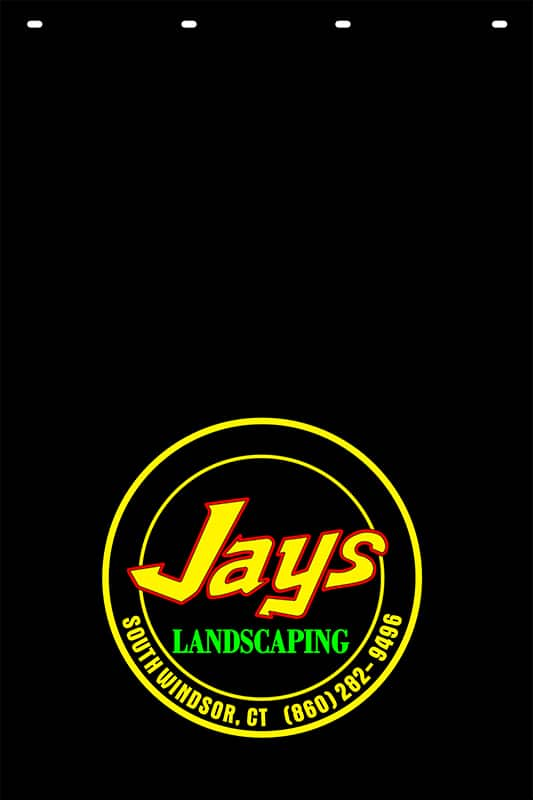 Image of Custom Hot Stamp Mud Flap for Jay's Landscaping