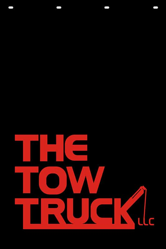 Image of Custom Company Logo Mud Flap for The Tow Truck LLC
