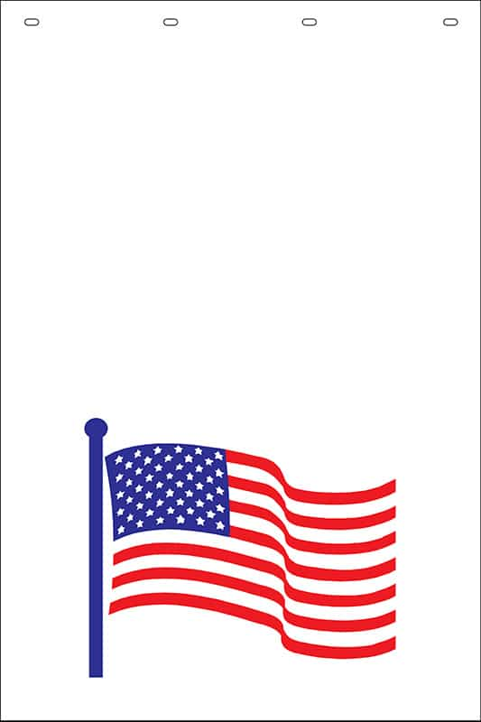 Image of American Flag Stock Stamp Mud Flap