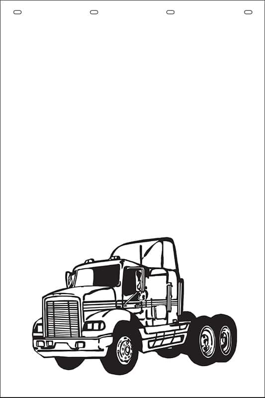 Image of Semi Truck Stock Stamp Mud Flaps